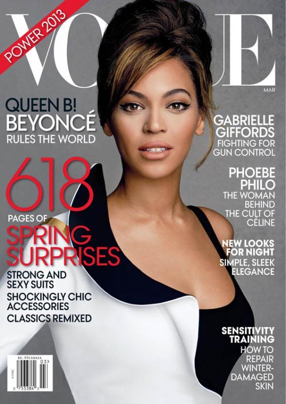 Beyonce en couverture du magazine Vogue de Mars