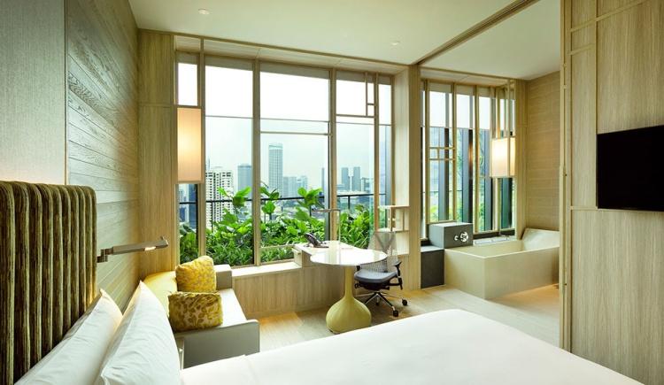 Chambre à l'hôtel Park Royal de Singapour
