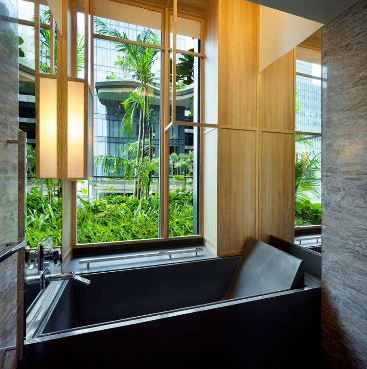 Salle de bain à l'hôtel Park Royal de Singapour