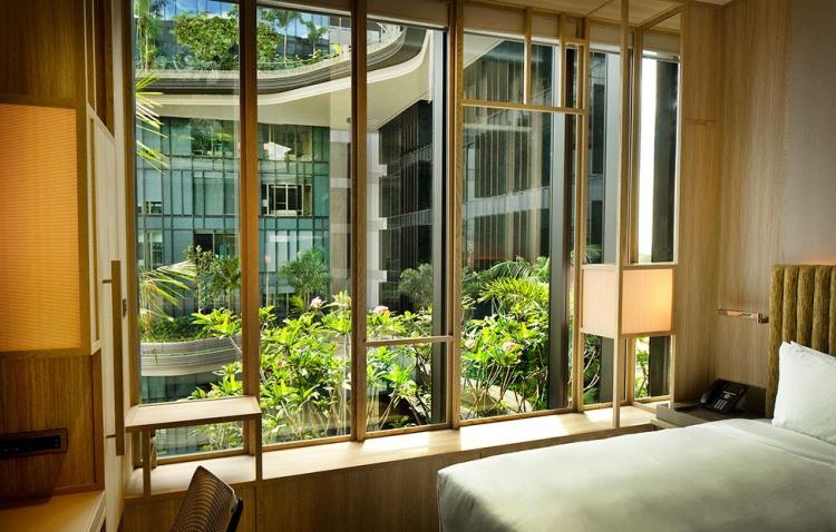 Chambre avec vue sur jardin à l'hôtel Park Royal