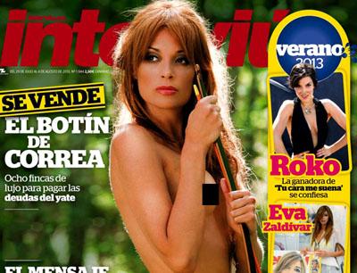 Lucia Hoyos pose pour le magazine espagnol Interviu