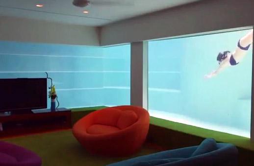 Une maison de r ve singapour avec une piscine originale - Piscine dans la maison ...