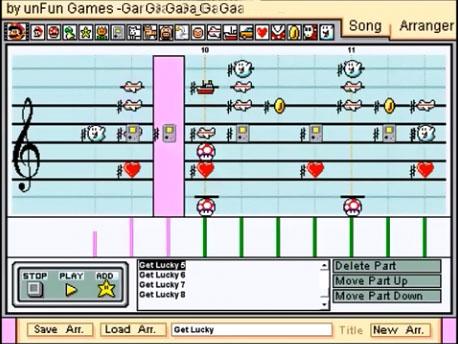 Get Lucky des Daft Punk repris sur Mario Paint Composer