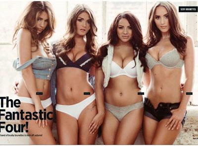 Rosie Jones, India Reynolds, Lacey Banghard et Holly Peers nues