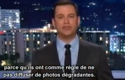 Jimmy Kimmel se fout de la photo de François Hollande
