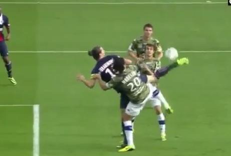 L'aile de pigeon de Zlatan Ibrahimovic face à Bastia