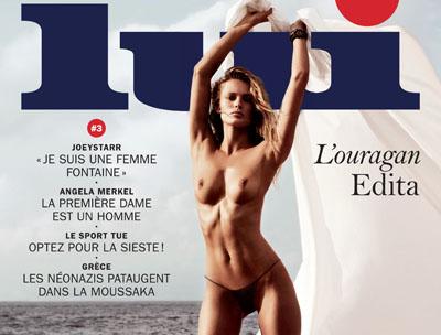Edita Vilkeviciute pose pour le magazine LUI de Décembre 2013