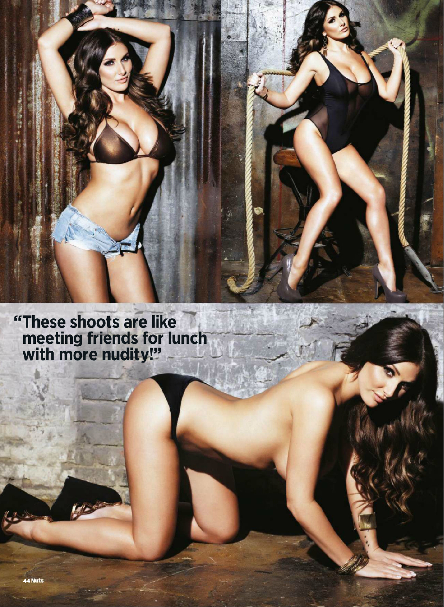 Lucy Pinder Magazine Nuts nue Novembre 2013 05