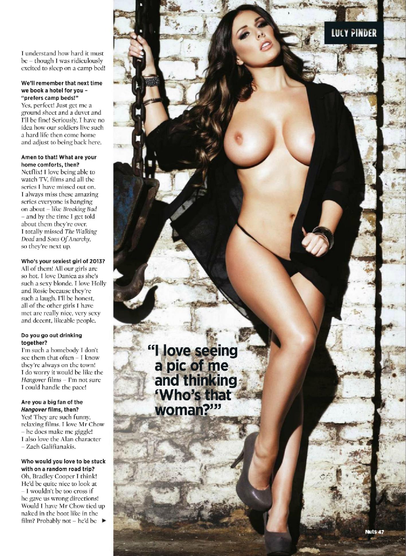 Lucy Pinder Magazine Nuts nue Novembre 2013 08