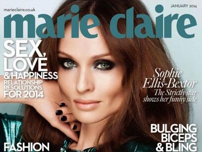 Sophie Ellis Bextor pose pour le magazine Marie Claire UK de Janvier 2014