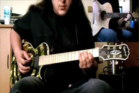 Reprise à la guitare de Chop Suey des System of a Down