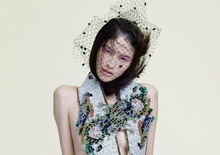 La chinoise Sui He pose pour Glass Magazine Winter