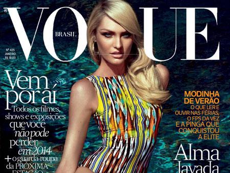 Candice Swanepoel dans le magazine Vogue Brésil de Janvier 2014