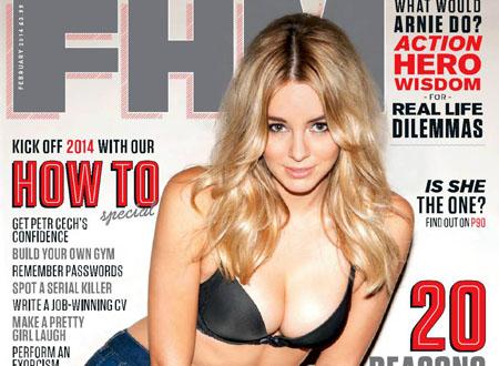 Kelley Hazell pose pour le FHM anglais de Février 2014