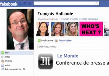 François Hollande drague grâce à son compte Facebook
