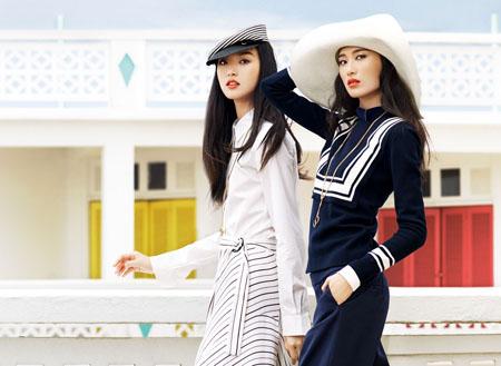 Tian Yi et Shu Pei Qin posent dans Vogue Chine de Janvier 2014
