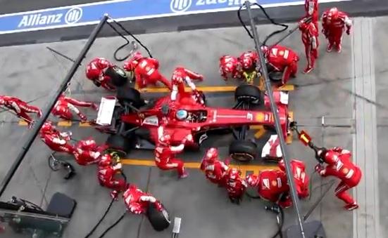 Un arrêt aux stands en F1 proche de la perfection