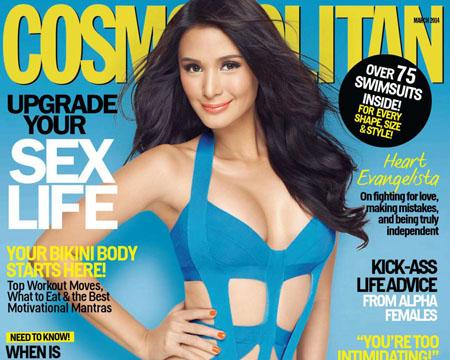 Heart Evangelista pour le magazine Cosmopolitan Philippines