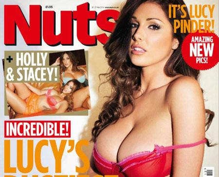 Lucy Pinder topless pour le magazine Nuts de Mars 2014