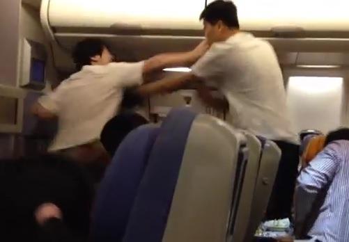 Une bagarre de chinois lors d'un vol entre Bangkok et Pékin