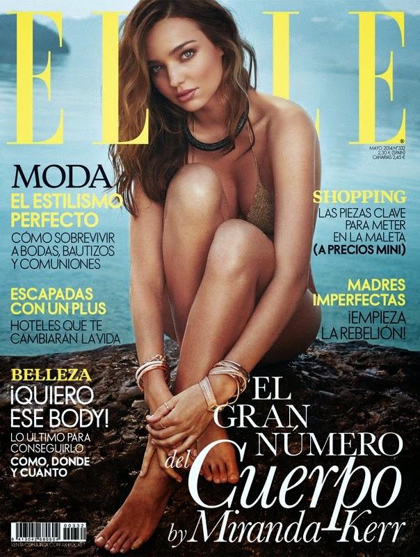Miranda Kerr Couverture Magazine ELLE Espagne