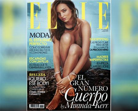 Miranda Kerr au bord de mer pour le magazine ELLE Espagne