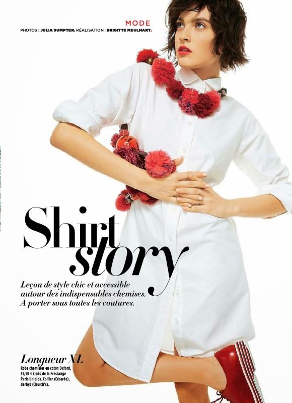 Shirt Story Yuliana Korotkova Gala Magazine Avril 2014