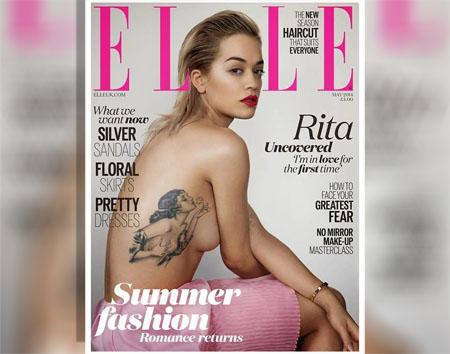 La chanteuse Rita Ora pose pour le magazine ELLE anglais