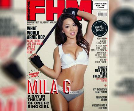 Mila G pose pour le magazine FHM Singapour