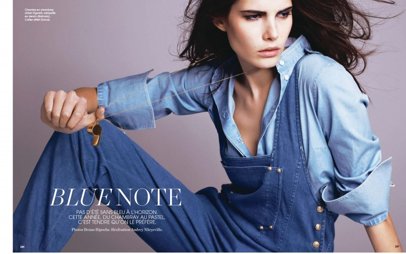Monica Cima Marie Claire France Juin 2014 Denim