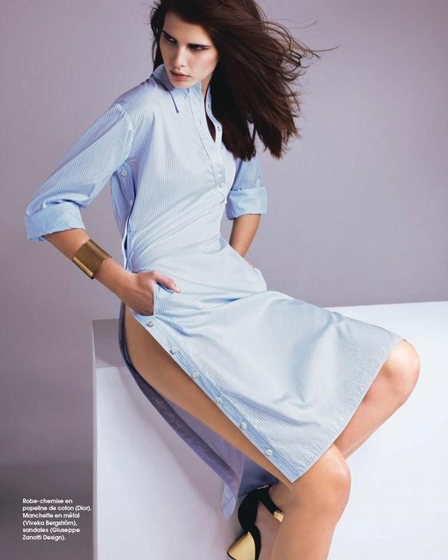 Monica Cima Marie Claire France Juin 2014 Robe bleue sajou