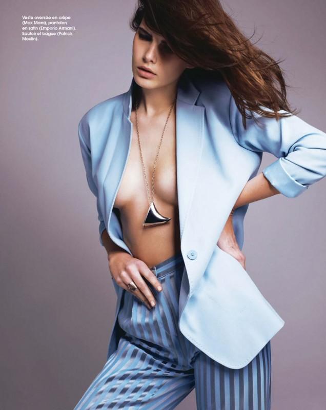 Monica Cima Marie Claire France Juin 2014 chemise ouverte sajou