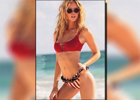 Olivia Pires pose pour le magazine Biba de Juillet 2014