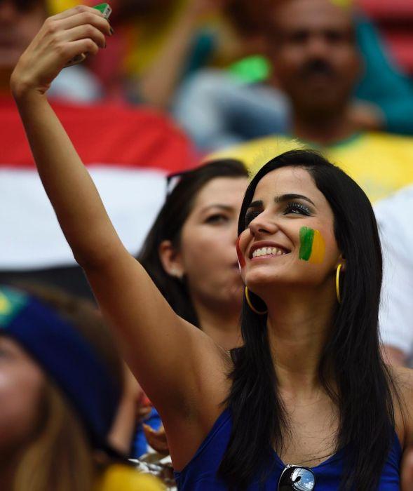 Une supportrice lors de la coupe du monde