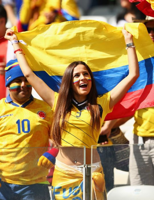 Une supportrice de la Colombie