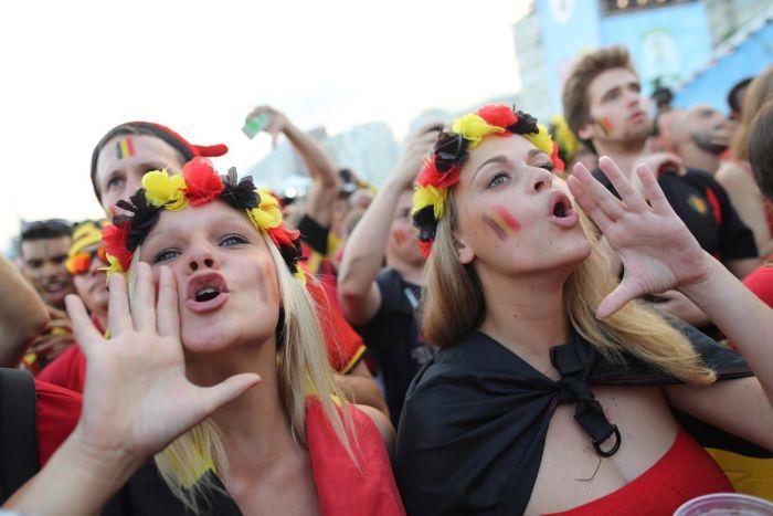 Deux supportrices de l'Allemagne