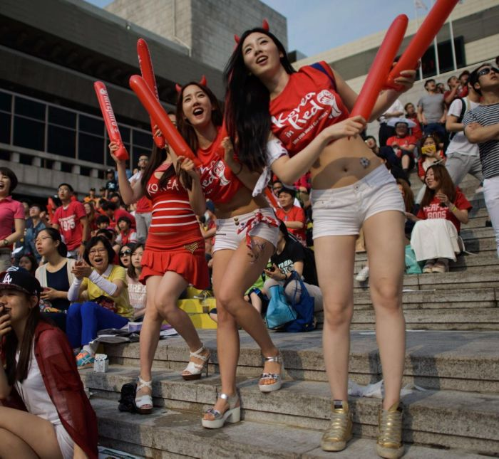 Des supportrices asiatiques