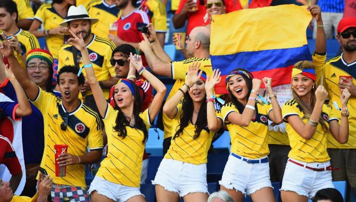 Des supportrices de la Colombie