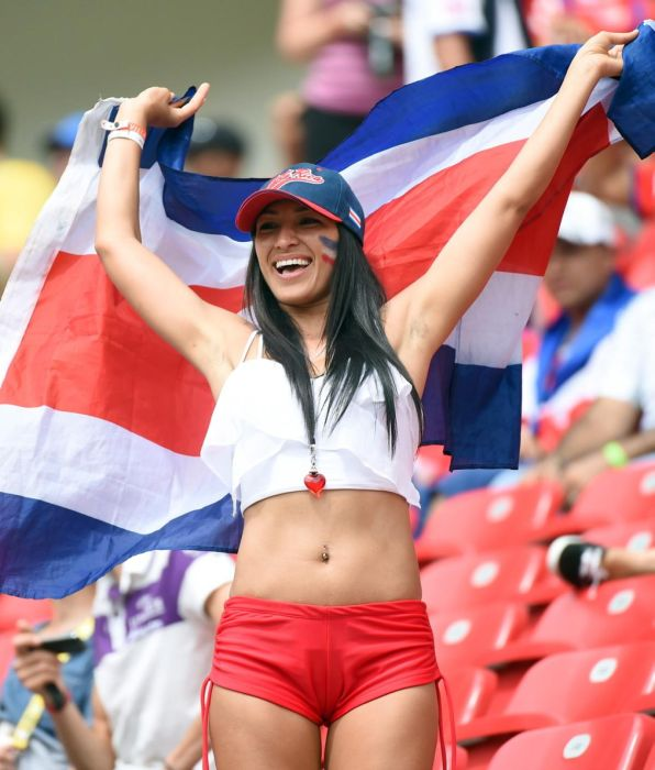 Une supportrice du Costa Rica