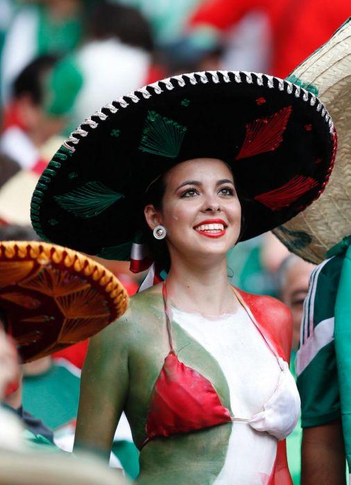 Une supportrice du Mexique
