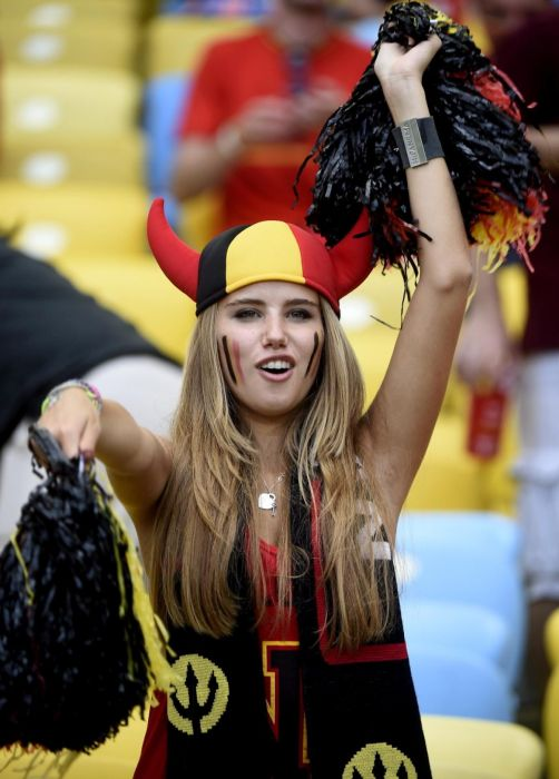 Une supportrice allemande