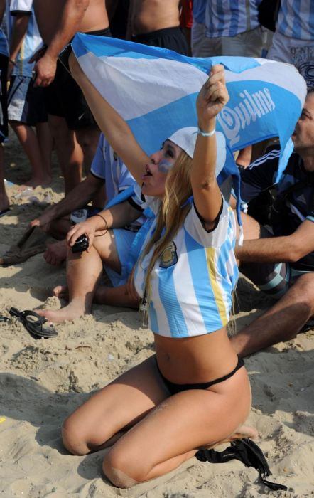Une supportrice de l'Argentine