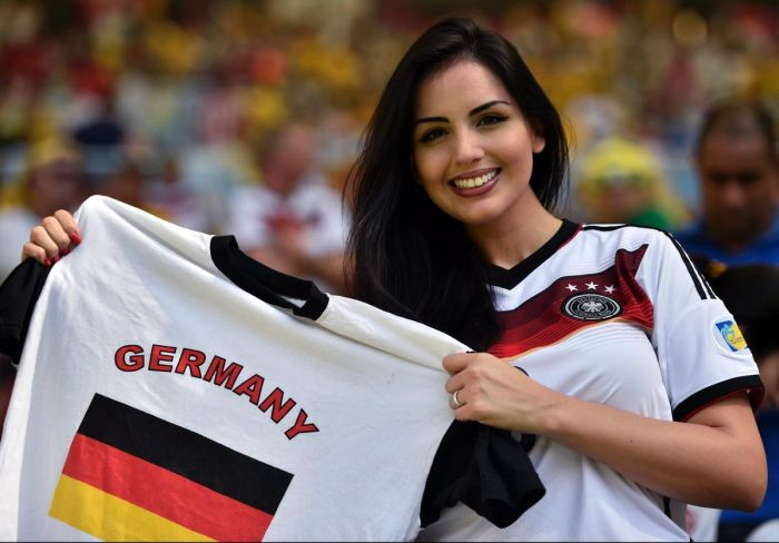 Une supportrice de l'Allemagne
