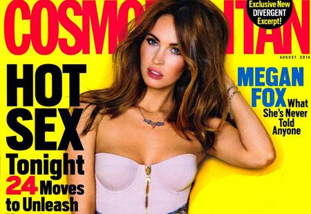 Megan Fox pose pour le magazine Cosmopolitan US