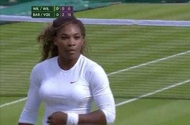 Serena Williams en pleine déroute à Wimbledon