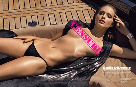 Emily DiDonato pose nue pour le magazine LUI