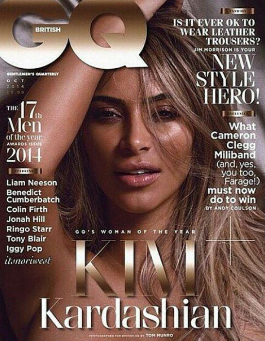 La couverture du magazine GQ avec Kim Kardashian