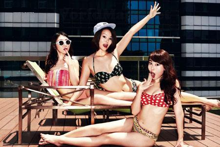 Les Ninja Girls posent pour FHM Singapour