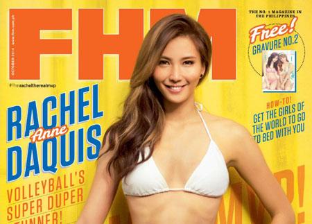 Rachel Anne Daquis pose pour FHM Philippines Octobre 2014