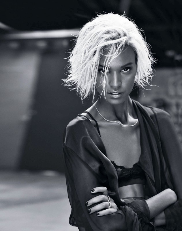 Liya Kebede blonde pour Marie Claire